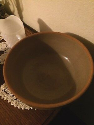 Primitive Antique Pottery Mixing Bowl