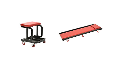 Automotive Bundle- Creeper w/ Adjustable Headrest and Creeper Seat w/ Tool Tray