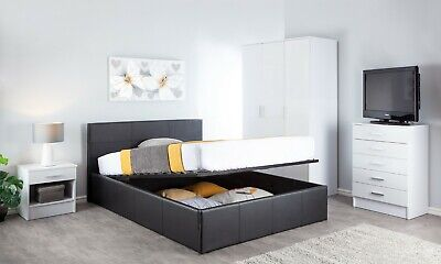 New Cheap Bed Frame Single Double King Size Leather Beds With Mattress Options