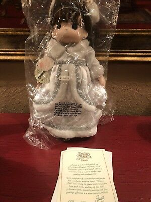 Precious Moments Christmas Doll Janna With Certificate Christmas 1215