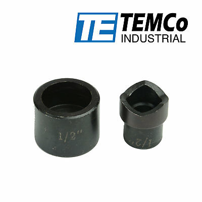 """TEMCo 1/2"""" Conduit Punch and Die For Hydraulic Knock Out Driver"""