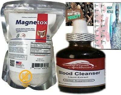 HEAVY METAL DETOX Works fast mercury  Remove Lead, Cadmium, Aluminum colon detox