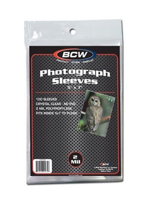 (10) Bcw 5X7 Photo Picture Image Soft Poly Acid Free Storage Sleeve Holders