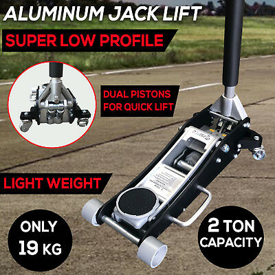 2 TON Low Profile Hydraulic Car Trolley Floor Jack Dual Pump Lift Light only19KG