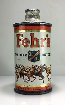 "Fehr's Xl ""kentucky Derby"" J Spout Irtp Cone Top Beer Can No Reserve Auction!"