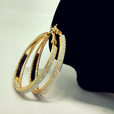 807a139995 Fashion Women Lady Crystal Rhinestone Hoop Round Big Earrings Ear Stud  Jewelry