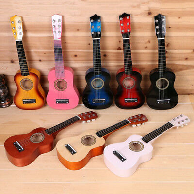 "21"" Kids Wooden Beginners Acoustic Guitar 6 String Children Kids Gift Practice"
