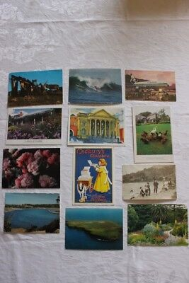 Vintage Post Cards x 12, Narooma, Heronswood, Surfing plus more