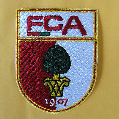 Aufnäher Fußball Football club FC Augsburg Logo patch Bügelbild iron on 8x5cm