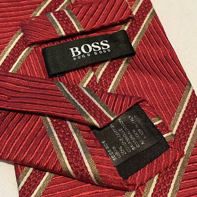 Mens HUGO BOSS Necktie - 100% Silk - Gorgeous Neck Tie