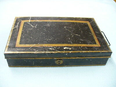 Vintage Metal Document Cash Box