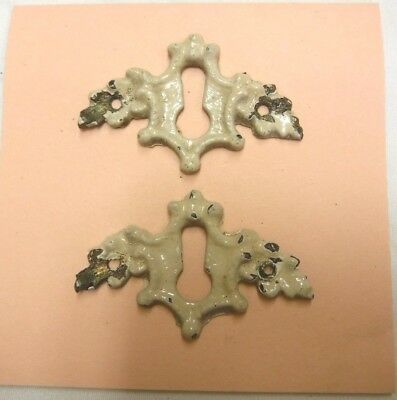 Antique Brass Keyhole Covers/ Escutcheons for Furniture