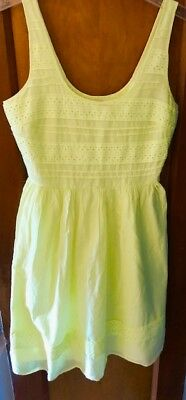 a563cadb737 OLD NAVY YELLOW Eyelet Dress Size Petite Small New With Tags ...