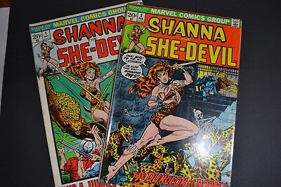 Shanna, The She-Devil #1 and #2 – Marvel (Dec 1972/Feb 1973)