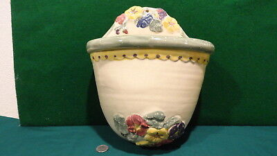 Antique? Vintage Large Wall Pocket Planter Marked Rpw Very Good Condition