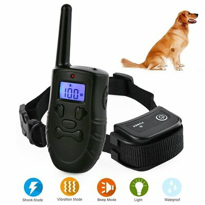 Dog Training Remote Shock Collar 300m Waterproof Rechargeable FOR 1/2 S M L Dog