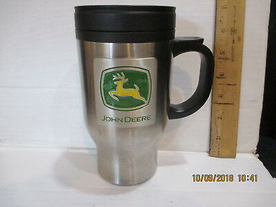 John Deere Thermo Steel 18/8 Stainless Insulated Travel Cup/ Mug