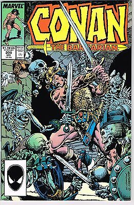 Conan The Barbarian #200 Marvel Comics Copper Age 1987 Nm- High Grade Copy