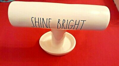 ❤️RAE DUNN Ceramic LL SHINE BRIGHT Bracelet Ring Jewelry HOLDER New w/tag