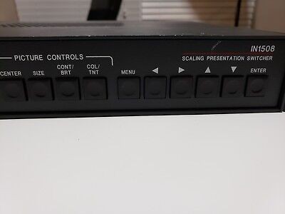 Extron IN1508  Scaling Presentation Switcher with power cord &mounting brackets