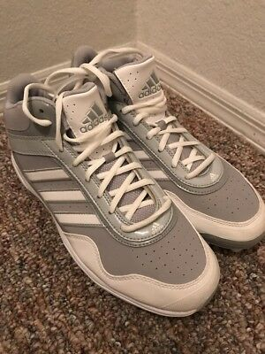 New Adidas Excelsior Pro Metal Mid Baseball Men's Shoes White Grey Sz/ 11