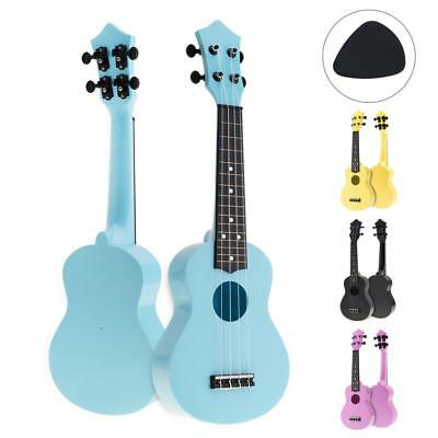 21 Inch Soprano Acoustic Ukulele Uke Hawaii Min Guitar Kids Beginner Toys + Pick