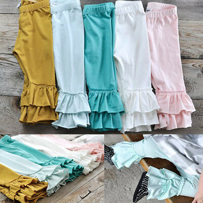 Toddler Baby Kid Girl Icing Ruffle Shorts Pants Double Layers Boutique Bottoms