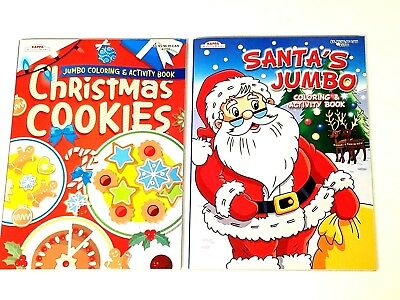 christmas jumbo coloring activity book christmas cookies santa