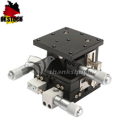 3Axis XYZ Linear Stage Trimming Platform Bearing Tuning Sliding 60x60mm Table DE
