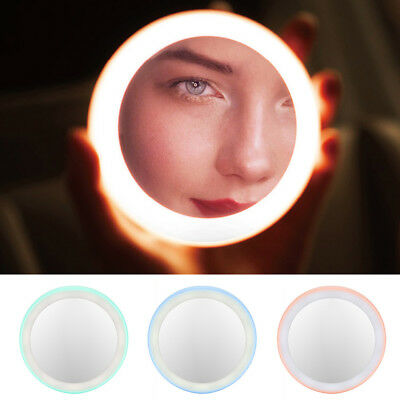 Rechargeable Portable Round Hd Makeup Cosmetic Mirror With 12Led Lights Alluring