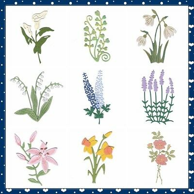 Nice Florals Metal Cutting Dies DIY Craft Scrapbooking Album Paper Cards Die-Cut