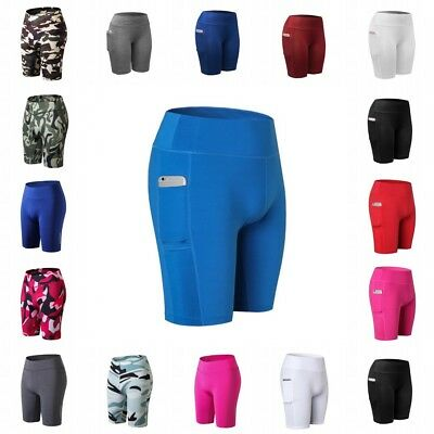 Women's Compression Fitness Yoga Shorts Trousers Athletic Gym Sports Short Pants