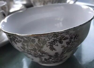 Vintage Royal Vale Gold Chintz China Open Sugar Bowl