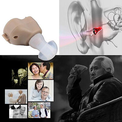 New Small In-Ear Voice Sound Amplifier Adjustable Tone Mini Hearing Ear Aid #BJ