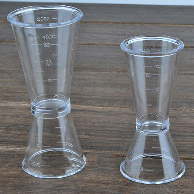 Plastic Jigger Single Double Shot Cocktail Wine Drinking Bar Party Measure Cup
