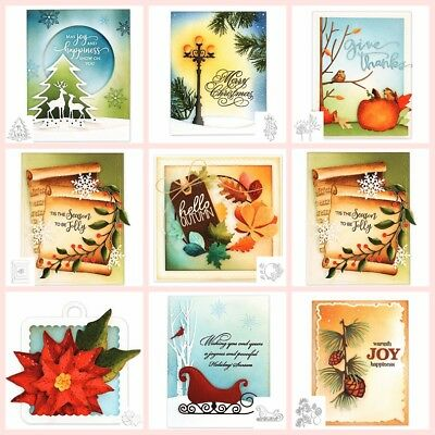 Christmas Winter Metal Cutting dies stencil Scrapbooking album embossing Crafts