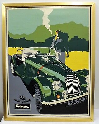 Signed Morgan Sports Car Poster by Ken Reed - Classic/Vintage - LTD ED(1 of 70)