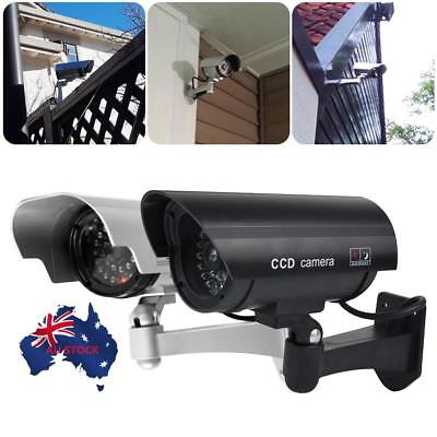 Solar Power Fake Camera CCTV Waterproof Realistic Dummy Security Cam Blinking