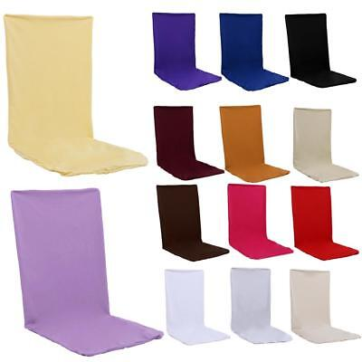 Pure Elastic Cloth Dining Chair Cover Hotel Office Wedding Party Room Seat Decor