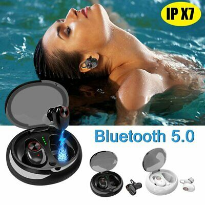 Wireless Bluetooth 5.0 Earbuds Sports Headset Twins IPX7 Waterproof Earphone