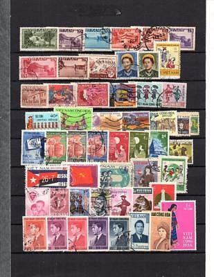 Vietnam - Asia  Collection   Of Postally Used  Old Stamps Lot (Viet 304)