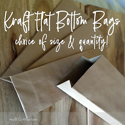 100 x Kraft Small Brown Paper Bags - Bulk Lolly Loot Gift Wedding Party Favour