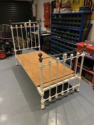 Maple & Co Brass & Cast Iron Bed