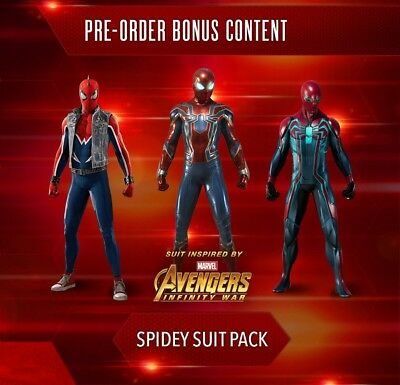 Spider-Man Pre-Order DLC Key Code (Spidey Suit Pack, Drone, Avatar & Theme) PS4