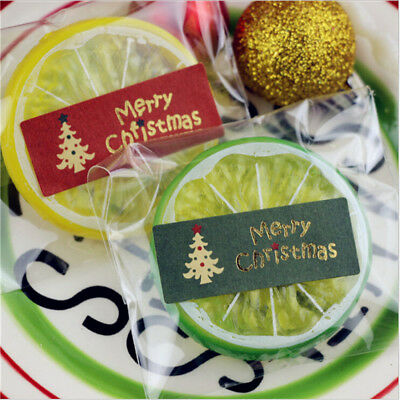 100Pcs Merry Christmas Package Seal Sticker Tree Gift Label Nordic Style Z
