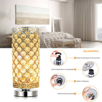 Crystal Table Lamp Ejoyous Nightstand Light Lamp 60W E26 Bulb Holiday Gift