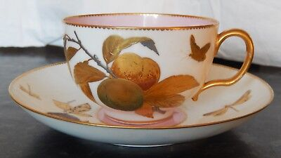 MINTON CUP&SAUCER  AESTHECTIC PERIOD  RETAILED by JOHN MORTLOCK  LONDON