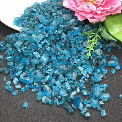 50g Natural Blue Apatite Gem Small Rough Stone Specimen Healing Mineral Decor OP