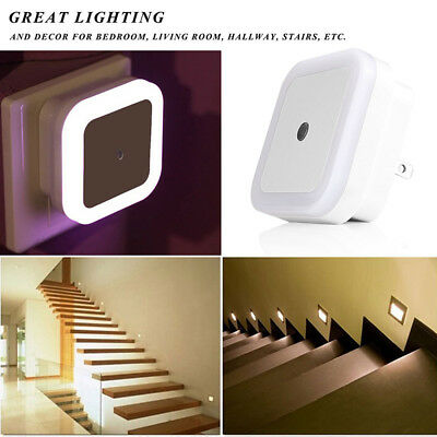 Automatic LED PLUG IN NIGHT LIGHT-LOW ENERGY-Baby Safety Night Light-4 Colour DS