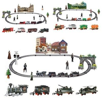 Toy Railroad Gadget Remote Control Conveyance Car Electric Steam Smoke Train Set